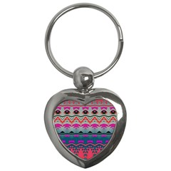 Waves And Other Shapes			key Chain (heart) by LalyLauraFLM