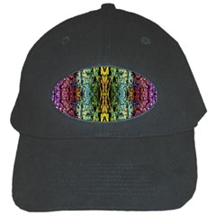 Abstract, Yellow Green, Purple, Tree Trunk Black Cap