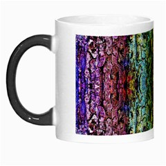 Abstract, Yellow Green, Purple, Tree Trunk Morph Mugs