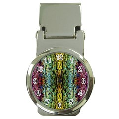 Abstract, Yellow Green, Purple, Tree Trunk Money Clip Watches by Costasonlineshop
