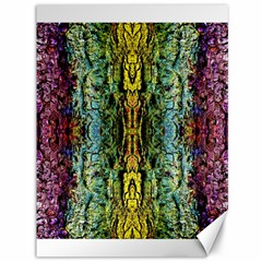 Abstract, Yellow Green, Purple, Tree Trunk Canvas 36  X 48   by Costasonlineshop