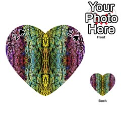 Abstract, Yellow Green, Purple, Tree Trunk Playing Cards 54 (heart)  by Costasonlineshop
