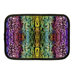 Abstract, Yellow Green, Purple, Tree Trunk Netbook Case (Medium)  by Costasonlineshop