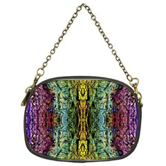 Abstract, Yellow Green, Purple, Tree Trunk Chain Purses (one Side)  by Costasonlineshop