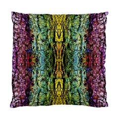 Abstract, Yellow Green, Purple, Tree Trunk Standard Cushion Case (one Side)  by Costasonlineshop