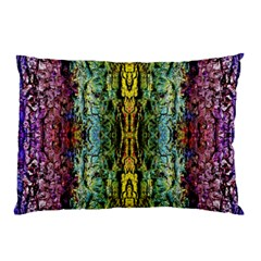 Abstract, Yellow Green, Purple, Tree Trunk Pillow Cases by Costasonlineshop