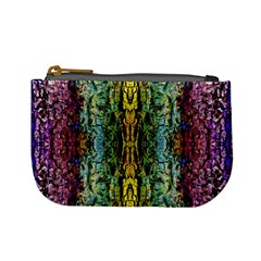 Abstract, Yellow Green, Purple, Tree Trunk Mini Coin Purses