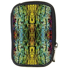 Abstract, Yellow Green, Purple, Tree Trunk Compact Camera Cases