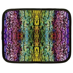 Abstract, Yellow Green, Purple, Tree Trunk Netbook Case (xxl)