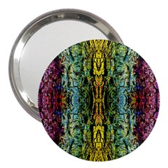 Abstract, Yellow Green, Purple, Tree Trunk 3  Handbag Mirrors by Costasonlineshop