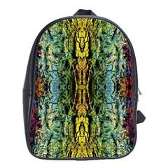 Abstract, Yellow Green, Purple, Tree Trunk School Bags (xl)