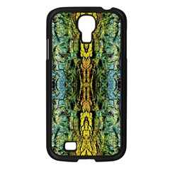 Abstract, Yellow Green, Purple, Tree Trunk Samsung Galaxy S4 I9500/ I9505 Case (black) by Costasonlineshop