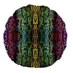 Abstract, Yellow Green, Purple, Tree Trunk Large 18  Premium Flano Round Cushions by Costasonlineshop
