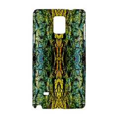 Abstract, Yellow Green, Purple, Tree Trunk Samsung Galaxy Note 4 Hardshell Case by Costasonlineshop