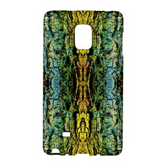 Abstract, Yellow Green, Purple, Tree Trunk Galaxy Note Edge by Costasonlineshop