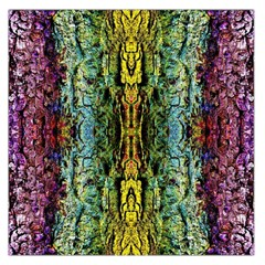 Abstract, Yellow Green, Purple, Tree Trunk Large Satin Scarf (square) by Costasonlineshop