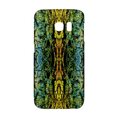 Abstract, Yellow Green, Purple, Tree Trunk Galaxy S6 Edge by Costasonlineshop