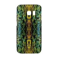 Abstract, Yellow Green, Purple, Tree Trunk Galaxy S6 Edge