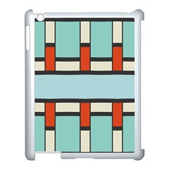 Vertical And Horizontal Rectanglesapple Ipad 3/4 Case (white) by LalyLauraFLM