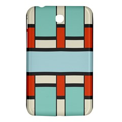 Vertical And Horizontal Rectanglessamsung Galaxy Tab 3 (7 ) P3200 Hardshell Case by LalyLauraFLM