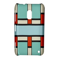 Vertical And Horizontal Rectangles			nokia Lumia 620 Hardshell Case by LalyLauraFLM