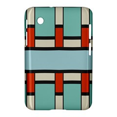 Vertical And Horizontal Rectangles			samsung Galaxy Tab 2 (7 ) P3100 Hardshell Case by LalyLauraFLM