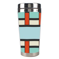 Vertical And Horizontal Rectangles Stainless Steel Travel Tumbler by LalyLauraFLM