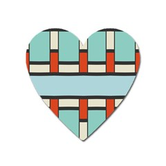 Vertical And Horizontal Rectangles			magnet (heart) by LalyLauraFLM
