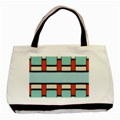 Vertical And Horizontal Rectanglesbasic Tote Bag by LalyLauraFLM