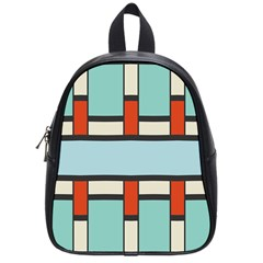 Vertical And Horizontal Rectanglesschool Bag (small) by LalyLauraFLM