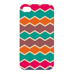 Colorful Chevrons Pattern			apple Iphone 4/4s Premium Hardshell Case by LalyLauraFLM