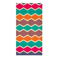 Colorful Chevrons Patternshower Curtain 36  X 72  by LalyLauraFLM