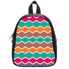 Colorful Chevrons Pattern			school Bag (small) by LalyLauraFLM
