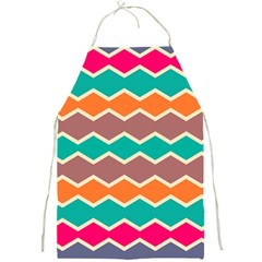 Colorful Chevrons Patternfull Print Apron by LalyLauraFLM