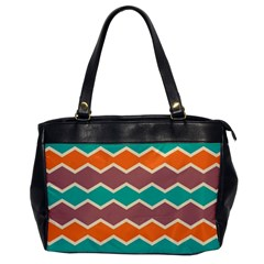 Colorful Chevrons Pattern			oversize Office Handbag by LalyLauraFLM