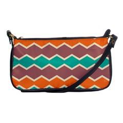 Colorful Chevrons Patternshoulder Clutch Bag by LalyLauraFLM