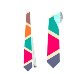 Colorful Chevrons Pattern Necktie by LalyLauraFLM