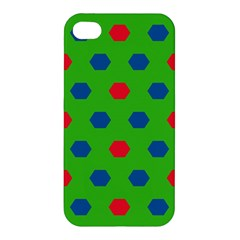 Honeycombs Pattern Apple Iphone 4/4s Hardshell Case by LalyLauraFLM