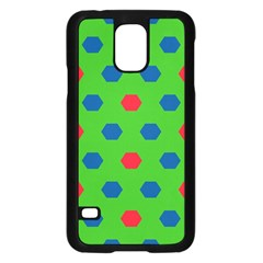 Honeycombs Pattern			samsung Galaxy S5 Case (black) by LalyLauraFLM
