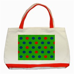 Honeycombs Pattern			classic Tote Bag (red) by LalyLauraFLM