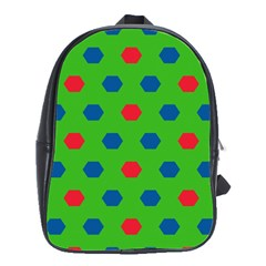 Honeycombs Pattern			school Bag (large) by LalyLauraFLM