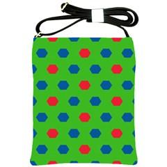 Honeycombs Patternshoulder Sling Bag by LalyLauraFLM