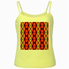 Melons Pattern Abstract Yellow Spaghetti Tanks by Costasonlineshop
