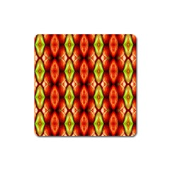 Melons Pattern Abstract Square Magnet