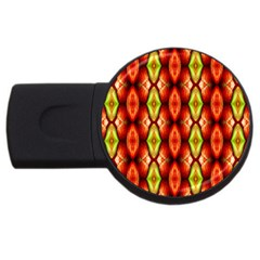Melons Pattern Abstract Usb Flash Drive Round (4 Gb)