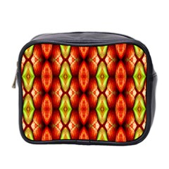 Melons Pattern Abstract Mini Toiletries Bag 2 Side by Costasonlineshop