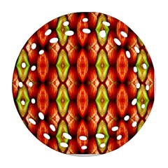 Melons Pattern Abstract Round Filigree Ornament (2Side) by Costasonlineshop