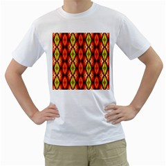 Melons Pattern Abstract Men s T Shirt (white)  by Costasonlineshop