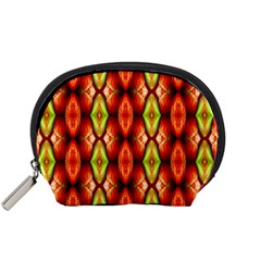 Melons Pattern Abstract Accessory Pouches (small)  by Costasonlineshop