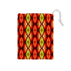 Melons Pattern Abstract Drawstring Pouches (medium)  by Costasonlineshop